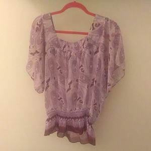 Bohemian-inspired XL lilac and violet top